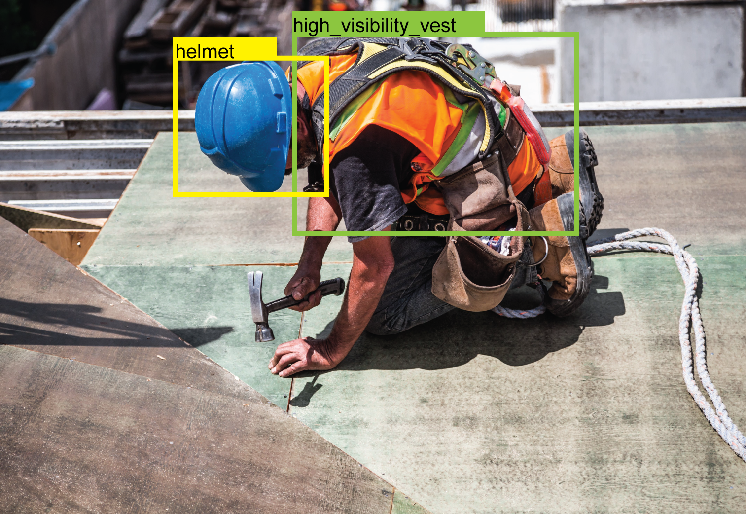 AI ensures worker safety in industrial and construction sites.